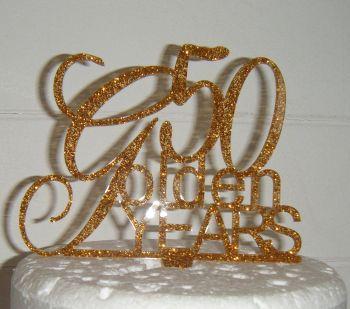 50 Golden Years  Cake Topper