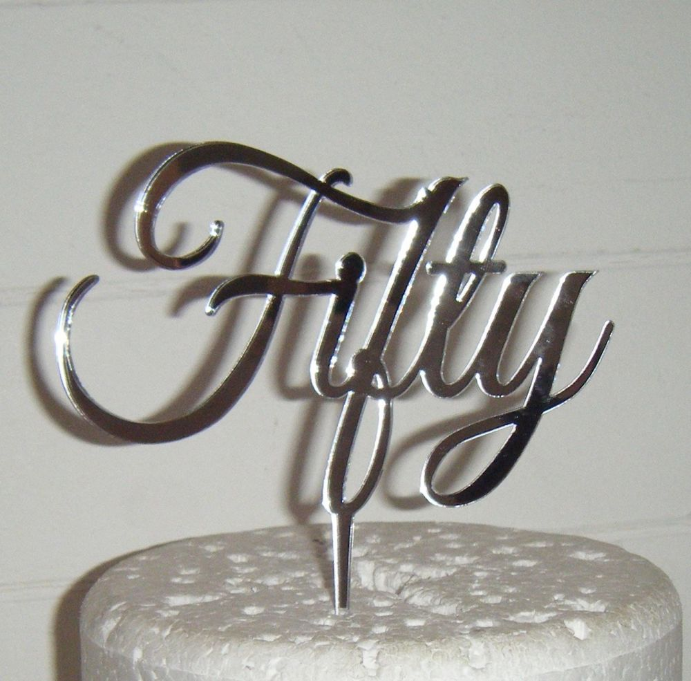 Fifty 50 Cake Topper