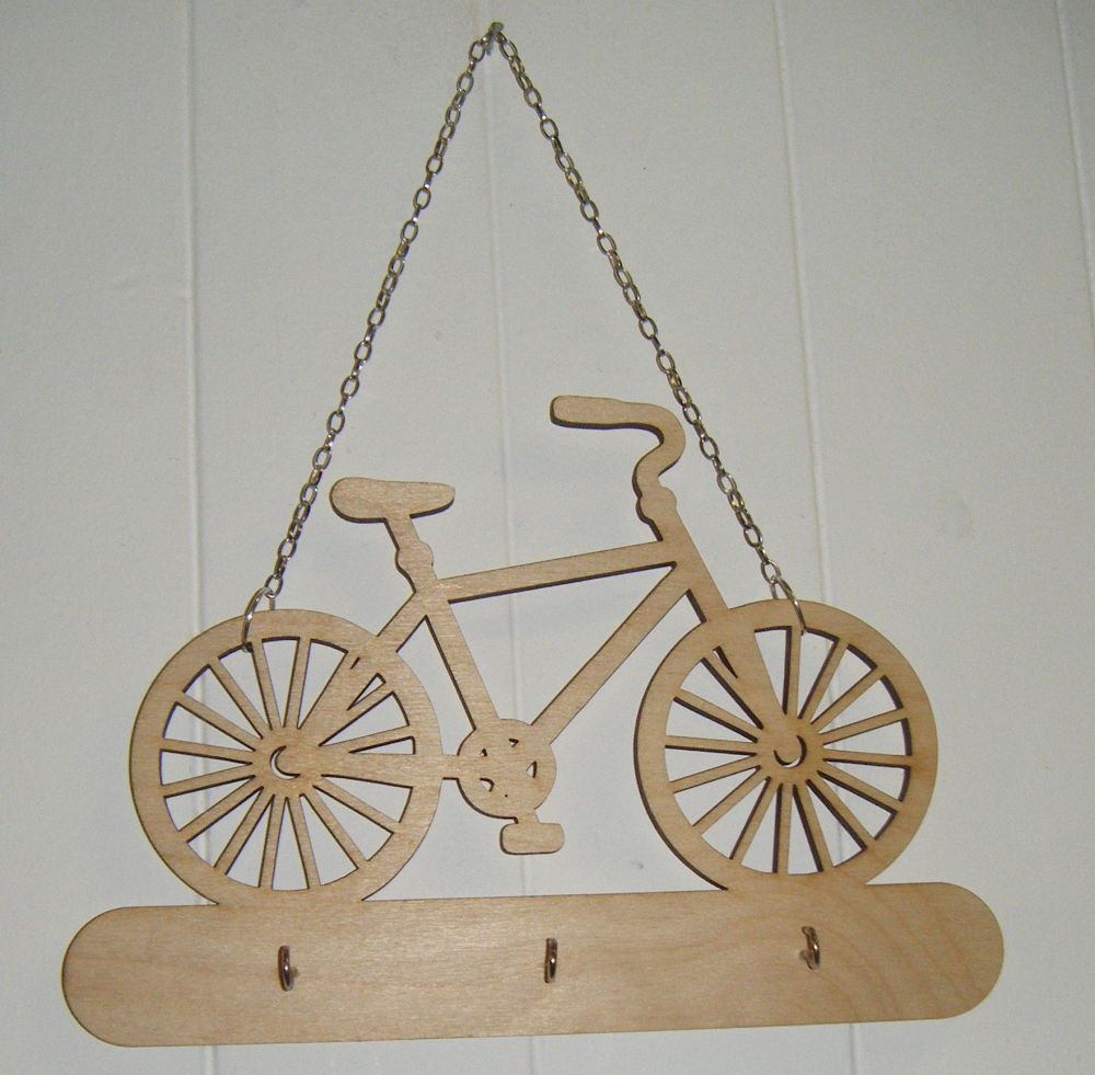 Wooden Keyholder Bike shape