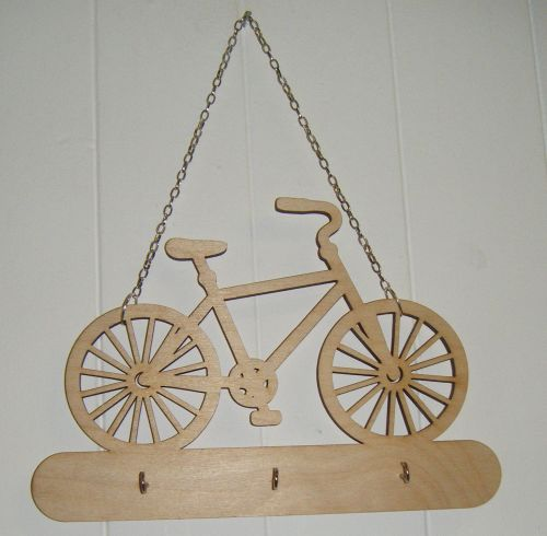 Wooden Keyholder Bike shape