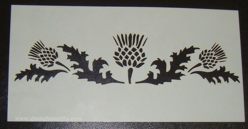 Thistle design Scottish cake or craft stencil