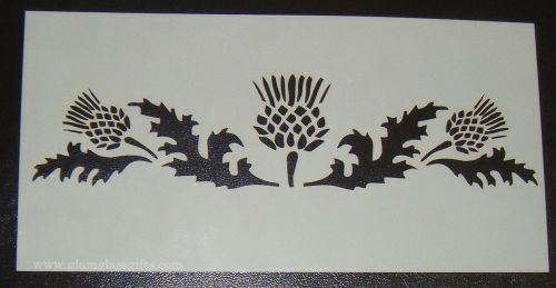 Thistle design Scottish cake or craft stencil