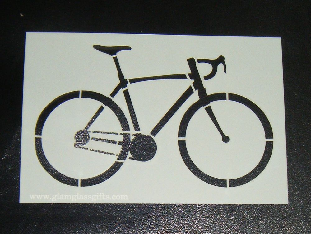Bike cake or craft stencil
