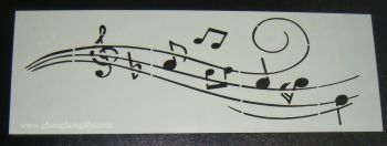 Music Notes Cake decorating stencil  Airbrush Mylar Polyester Film