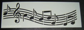 Music Notes 2 Cake decorating stencil  Airbrush Mylar Polyester Film