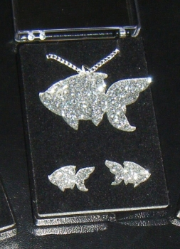 Fish Earring and Pendant set  Necklace