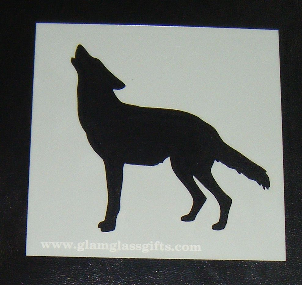 Howling wolf Stencil Cake airbrish craft etc