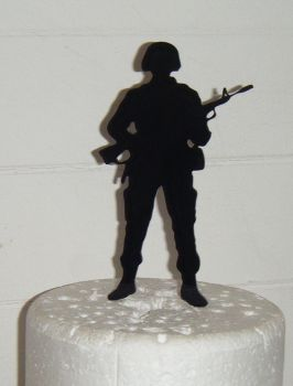 Soldier Silhouette Cake Topper