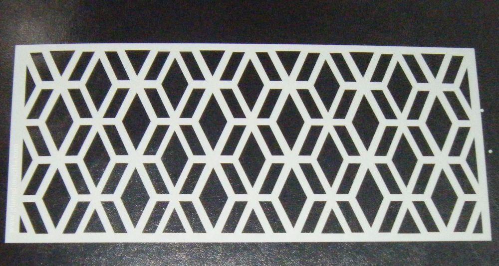 Geometric Cake Stencil Large 5 inch deep pattern 2