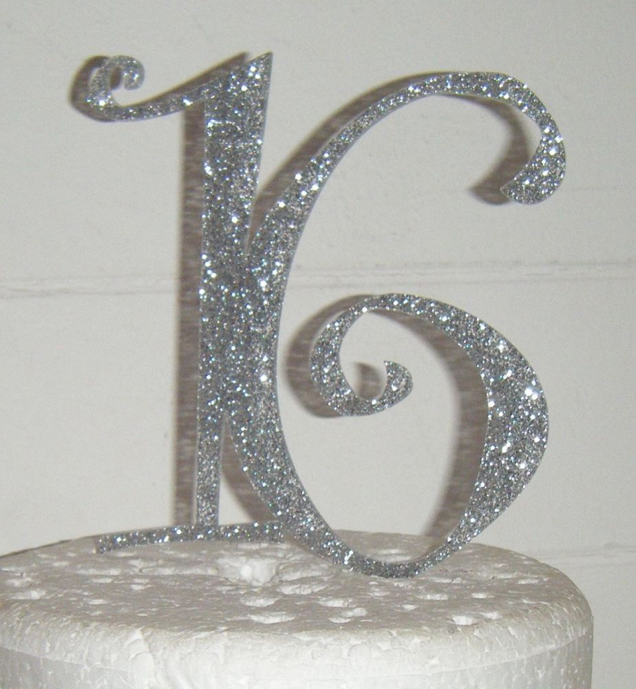 16 Cake Topper 4  (Sold design Exactly as shown)