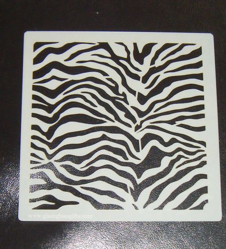 Animal Zebra Tiger stripes print airbrush Stencil