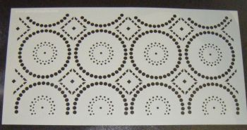 Aztec Circles Pattern Cake decorating stencil Airbrush Mylar Polyester Film Large