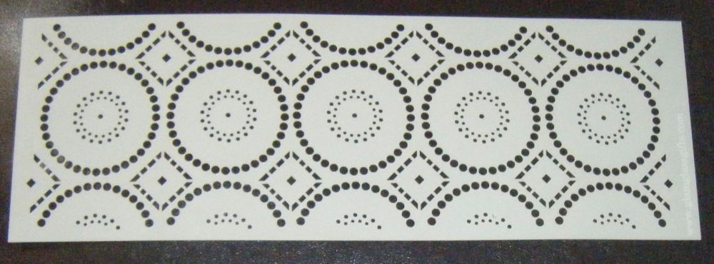 Atec Circles Pattern Cake decorating stencil Airbrush Mylar Polyester Film