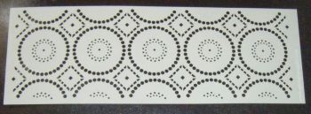 Aztec Circles Pattern Cake decorating stencil Airbrush Mylar Polyester Film 4 inch
