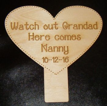 Page boy/bridesmaid sign wooden plaque