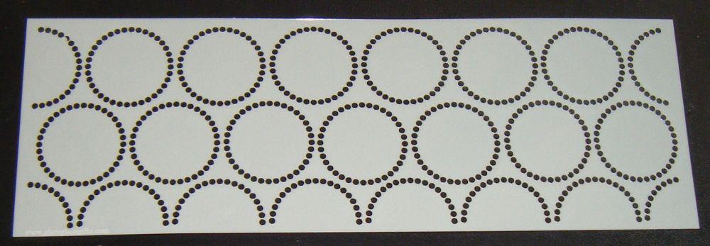 Dot Circles Pattern Cake decorating stencil Airbrush Mylar Polyester Film 4