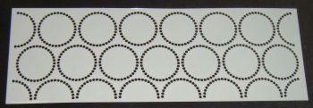 Dot Circles Pattern Cake decorating stencil Airbrush Mylar Polyester Film 4 inch