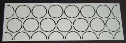 Dot Circles Pattern Cake decorating stencil Airbrush Mylar Polyester Film 4