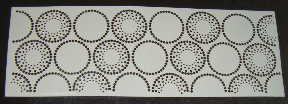 Dot Circles 2 Pattern Cake decorating stencil Polyester Film 4 inch