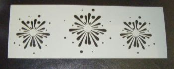 Fireworks splat 2 Cake decorating stencil Airbrush Mylar Polyester Film