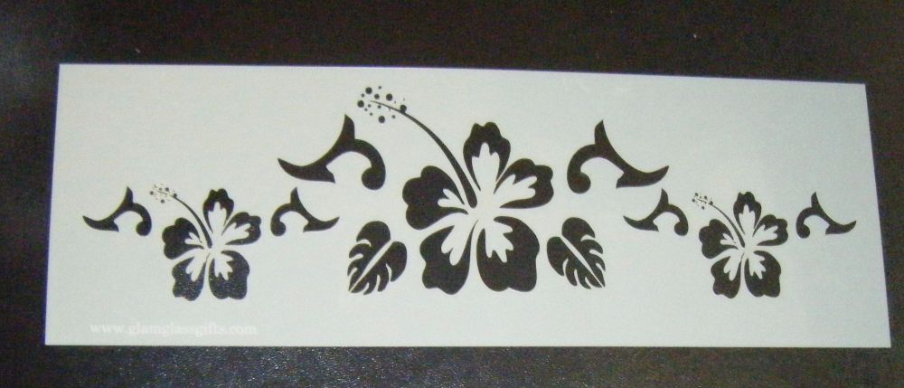 Flower Pattern 2 Cake decorating stencil Airbrush Mylar Polyester Film