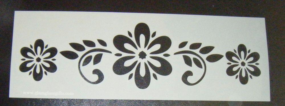 Flower Pattern Cake decorating stencil Airbrush Mylar Polyester Film