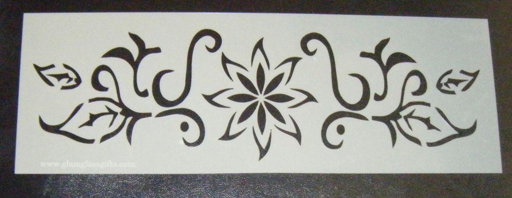 Flower Pattern 3 Cake decorating stencil Airbrush Mylar Polyester Film