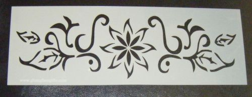 Flower Pattern 3 Cake decorating stencil Airbrush Mylar Polyester Film