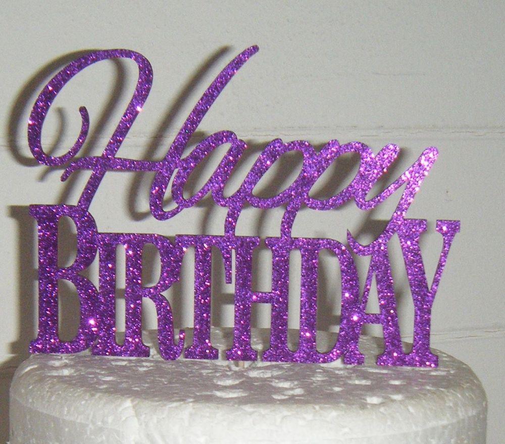 Happy Birthday Cake Topper 8