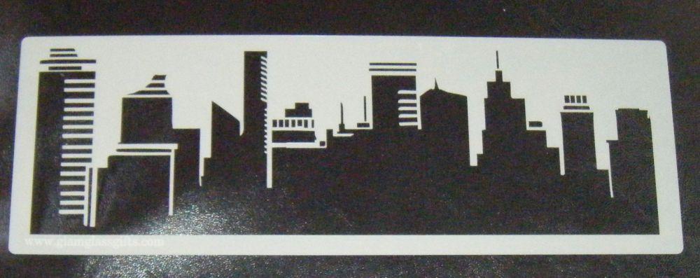 General skyline Cake stencil