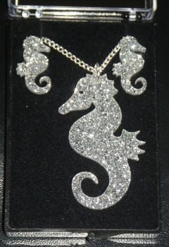 Seahorse Earring and Pendant set  Necklace