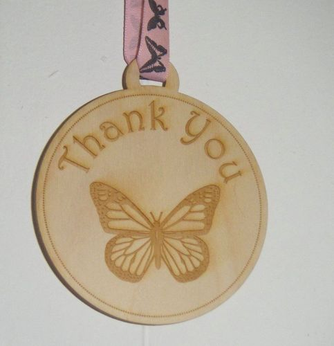 Thank you Butterfly wooden plaque