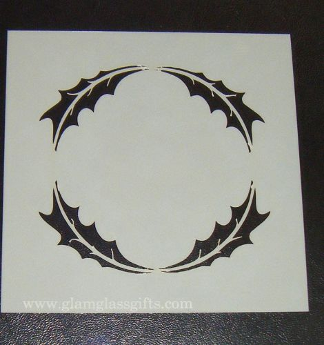 Circle Leaf Motif  Cake decorating stencil Airbrush Mylar Polyester Film