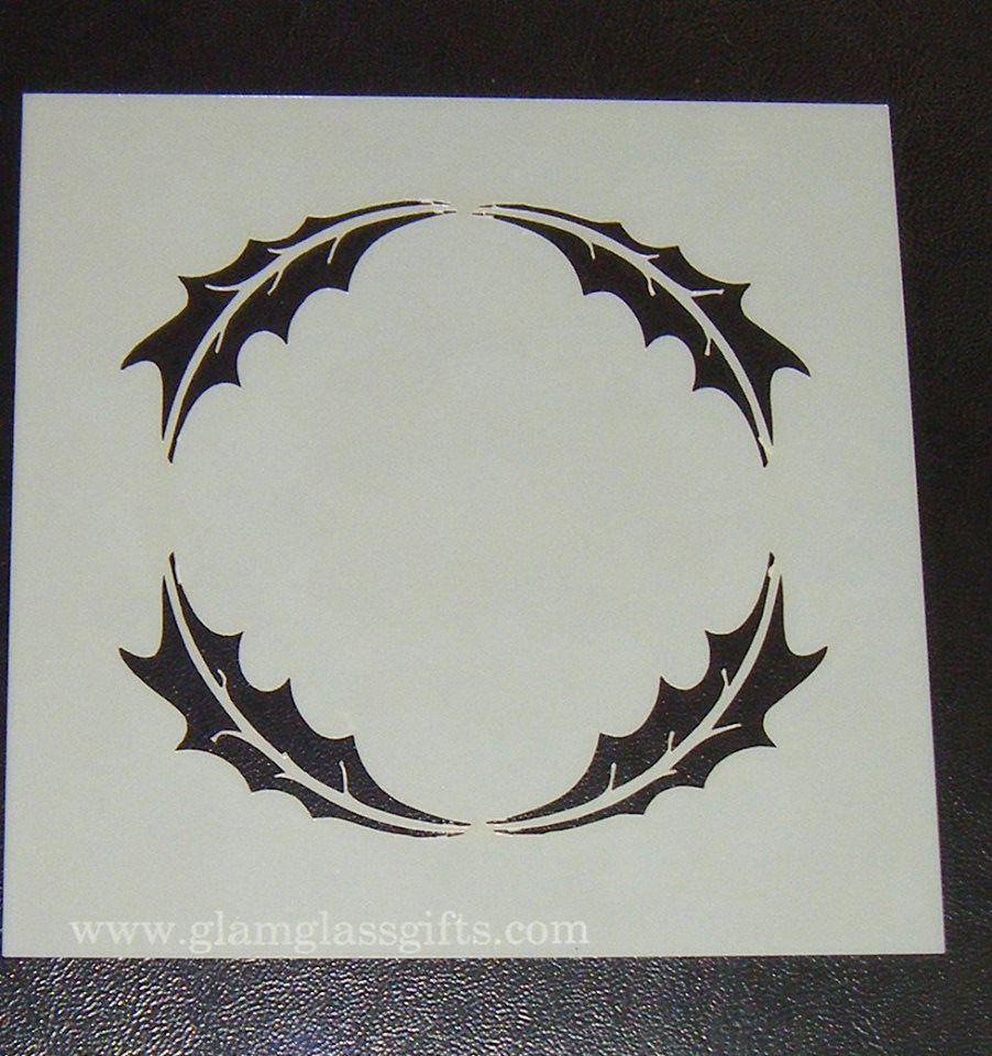 Circle Leaf Motif  Cake decorating stencil Airbrush Mylar Polyester Film