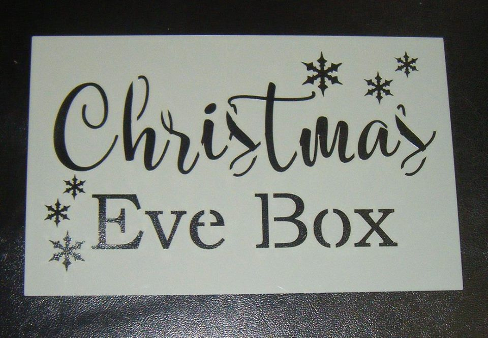 Christmas eve box cake or craft stencil