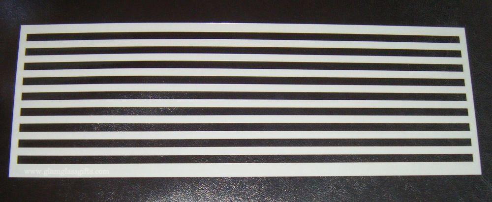 0.5cm Stripes Pattern Cake Decorating Stencil Airbrush Mylar Polyester Film