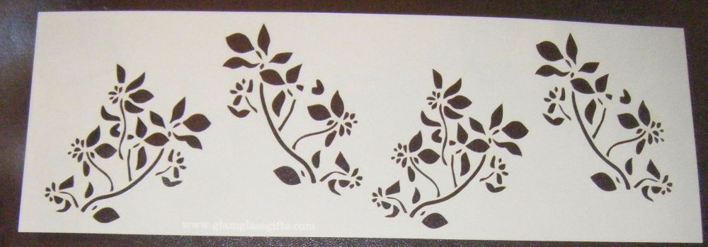 Flower spray Pattern 4 Cake decorating stencil Airbrush Mylar Polyester Fil