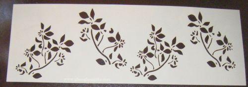 Flower spray Pattern 4 Cake decorating stencil Airbrush Mylar Polyester Fil