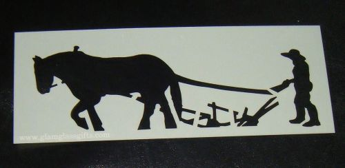 Horse and Plough Cake decorating stencil Airbrush Mylar Polyester Film
