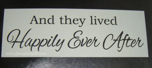 And They Lived Happily Ever After Cake Stencil