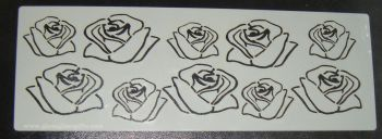 Rose Flower Design Cake decorating stencil Airbrush Mylar Polyester Film