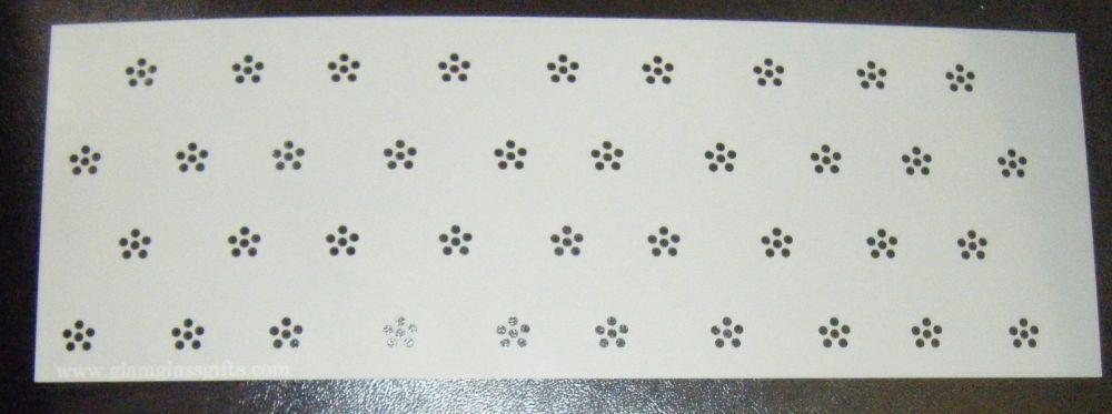 Dot flower Design Cake decorating stencil Airbrush Mylar Polyester Film