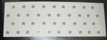 Dot flower Design Cake decorating stencil Airbrush Mylar Polyester Film
