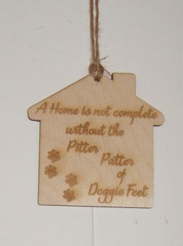 A home is not complete wooden plaque