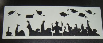 Graduation Cake decorating stencil set Airbrush Mylar Polyester Film