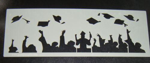 Graduation Cake decorating stencil set Airbrush Mylar Polyester Film