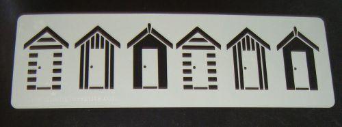 Beach Huts in a row Stencil