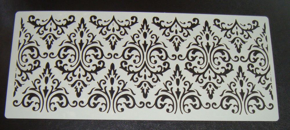 Damask Cake Airbrush craft stencil 5 inch