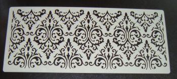 Damask Cake Airbrush craft stencil 5 inch
