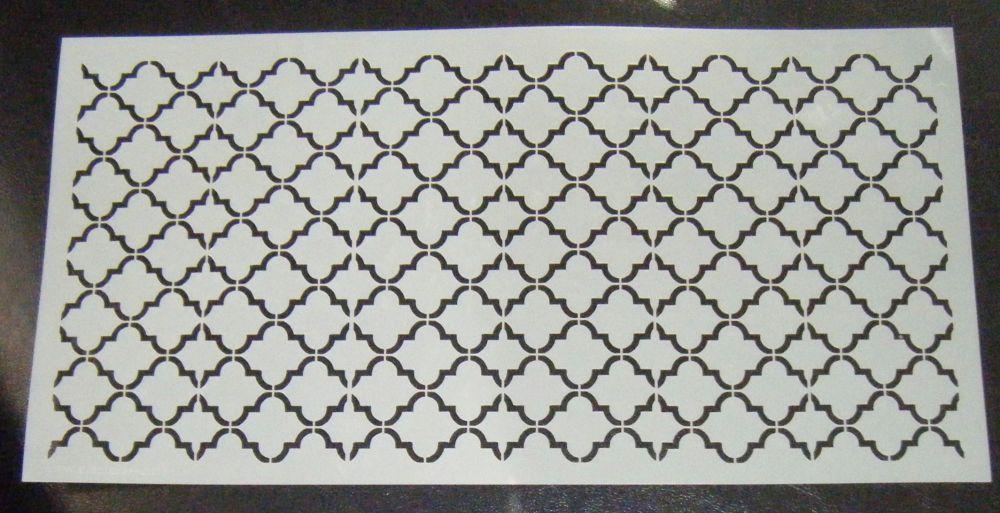 Quatre Foil Pattern Cake decorating stencil 6 inch deep